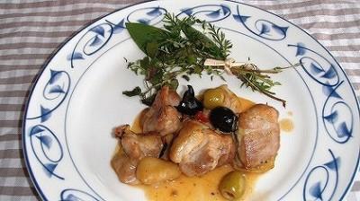 チキンのオリーブ煮