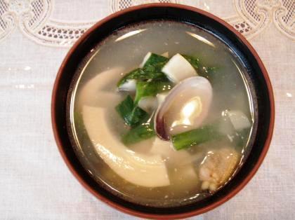 あさりと筍スープ